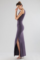 Drexcode - Plum dress with drapery - Chiara Boni - Sale - 2