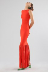 Drexcode - Red dress with fringes - Chiara Boni - Sale - 4