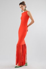 Drexcode - Red dress with fringes - Chiara Boni - Sale - 3