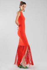 Drexcode - Red dress with fringes - Chiara Boni - Sale - 5