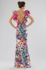 Drexcode - Printed dress with bare back  - Chiara Boni - Sale - 2