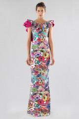 Drexcode - Printed dress with bare back  - Chiara Boni - Sale - 1
