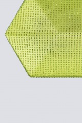Drexcode - Geometric lime clutch with rhinestones - Anna Cecere - Sale - 1