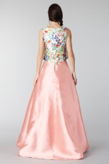 Drexcode - Complete pink skirt and floral top in silk  - Tube Gallery - Sale - 1