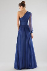 Drexcode - One-shoulder blue dress with long sleeve - Cristallini - Rent - 7