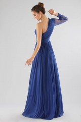 Drexcode - One-shoulder blue dress with long sleeve - Cristallini - Rent - 8