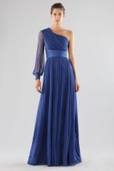 Drexcode - One-shoulder blue dress with long sleeve - Cristallini - Rent - 1