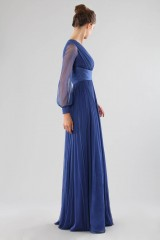 Drexcode - One-shoulder blue dress with long sleeve - Cristallini - Rent - 6