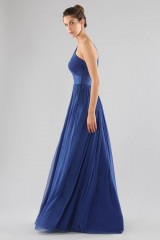 Drexcode - One-shoulder blue dress with long sleeve - Cristallini - Rent - 4