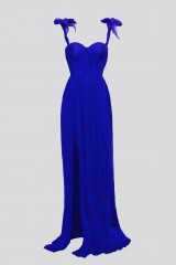 Drexcode - Purple bustier dress with slit - Cristallini - Rent - 5
