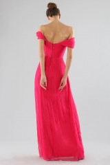 Drexcode - Off-shoulder fuchsia dress with slit - Cristallini - Rent - 7