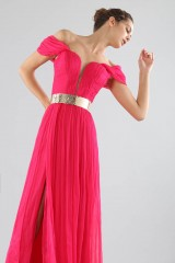 Drexcode - Off-shoulder fuchsia dress with slit - Cristallini - Rent - 2