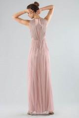 Drexcode - Long pink dress with deep neckline - Cristallini - Rent - 4