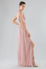 Drexcode - Long pink dress with deep neckline - Cristallini - Rent - 2