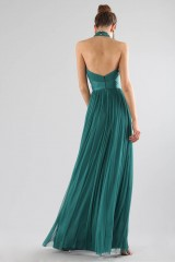 Drexcode - Green dress with halter neck - Cristallini - Rent - 6