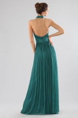 Drexcode - Green dress with halter neck - Cristallini - Rent - 7