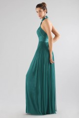 Drexcode - Green dress with halter neck - Cristallini - Rent - 4