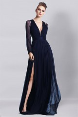 Drexcode - Blue dress with lace - Cristallini - Rent - 6