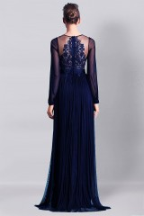 Drexcode - Blue dress with lace - Cristallini - Rent - 7