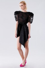 Drexcode - Black dress with sequins and side slit - Daniele Carlotta - Rent - 5
