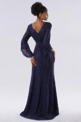 Drexcode - Blue lace dress with long sleeves - Daphne - Rent - 4