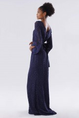 Drexcode - Blue lace dress with long sleeves - Daphne - Rent - 3