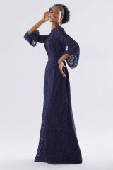 Drexcode - Blue lace dress with long sleeves - Daphne - Rent - 5