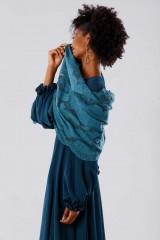 Drexcode - Teal dress in silk georgette - Daphne - Rent - 6