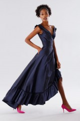 Drexcode - Blue taffeta dress with ruffles - Daphne - Rent - 7