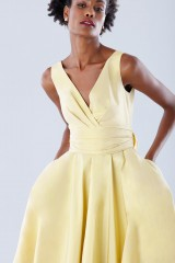 Drexcode - Yellow taffeta dress - Daphne - Sale - 7