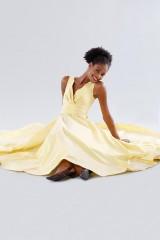 Drexcode - Yellow taffeta dress - Daphne - Sale - 6