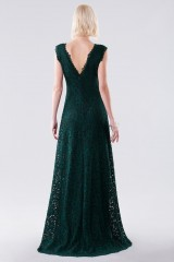 Drexcode - Green lace dress with drapery - Daphne - Rent - 3
