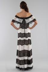 Drexcode - Striped lace off shoulder dress  - Alice+Olivia - Sale - 5