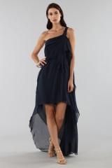 Drexcode - Asymmetric blue silk dress - Alberta Ferretti - Rent - 7
