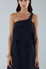 Drexcode - Asymmetric blue silk dress - Alberta Ferretti - Rent - 8