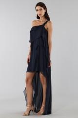 Drexcode - Asymmetric blue silk dress - Alberta Ferretti - Rent - 6