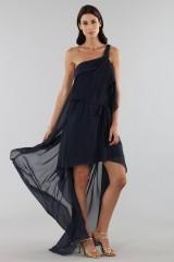 Drexcode - Asymmetric blue silk dress - Alberta Ferretti - Rent - 10