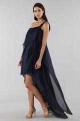 Drexcode - Asymmetric blue silk dress - Alberta Ferretti - Rent - 5