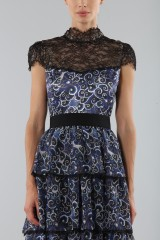 Drexcode - Blue dress with overlapping frills - Alice+Olivia - Sale - 3