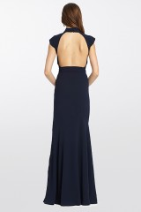 Drexcode - Blue dress with turtleneck - ML - Monique Lhuillier - Rent - 9