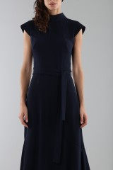 Drexcode - Blue dress with turtleneck - ML - Monique Lhuillier - Rent - 6