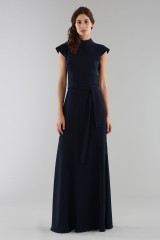 Drexcode - Blue dress with turtleneck - ML - Monique Lhuillier - Rent - 3