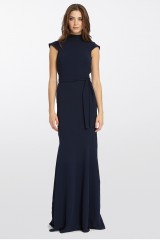 Drexcode - Blue dress with turtleneck - ML - Monique Lhuillier - Rent - 10