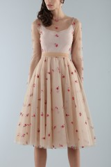 Drexcode - Short nude dress with embroidery - Luisa Beccaria - Rent - 5