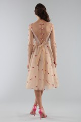 Drexcode - Short nude dress with embroidery - Luisa Beccaria - Rent - 2