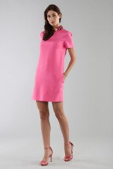 Drexcode - Fuchsia short dress with sequin collar - Emilio Pucci - Rent - 1