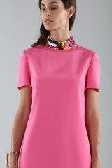 Drexcode - Fuchsia short dress with sequin collar - Emilio Pucci - Rent - 4
