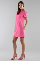 Drexcode - Fuchsia short dress with sequin collar - Emilio Pucci - Rent - 3