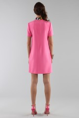 Drexcode - Fuchsia short dress with sequin collar - Emilio Pucci - Rent - 2