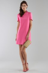 Drexcode - Fuchsia short dress with sequin collar - Emilio Pucci - Rent - 5